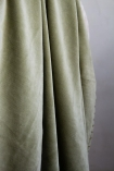 Close-up image of the Moss Green Velvet Throw