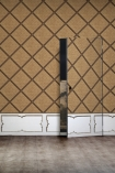 Image of a wall covered in the NLXL Framed Webbing Wallpaper by Mr & Mrs Vintage