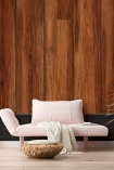 Lifestyle image of the Mahogany NLXL Wood Panel Wallpaper by Mr & Mrs Vintage