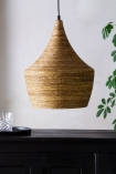 Close-up lifestyle image of the Natural Texture with Gold Interior Ceiling Light - Bell Design