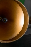 Image of the inside of the Natural Texture with Gold Interior Ceiling Light - Bell Design
