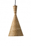Cutout image of the Natural Texture with Gold Interior Ceiling Light - Cone Design
