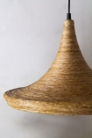 Image of the Natural Texture with Gold Interior Ceiling Light - Drop Design