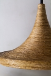 Close-up image of the Natural Texture with Gold Interior Ceiling Light - Drop Design