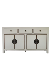 Front on image of the Oriental Gloss White Sideboard on a white background
