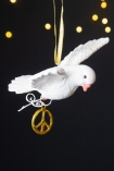 Image of the right side of the Peace Dove Hanging Christmas Decoration