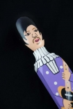 Close-up of the head on the Purple Prince Doorstop
