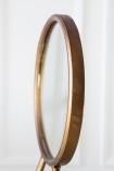 Side angle image of the Bronze Bird Feet Table/Vanity Mirror