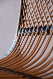 Close-up image of the detail on the Black & Natural Beautiful Rattan Lounge Chair