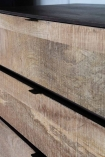 Close-up image of the drawers on the Raw Rustic Style Chest Of Drawers