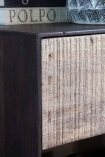 Close-up image of the raw wood on the Industrial Style Mango Wood TV Cabinet