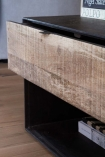 Close-up image of the drawer on the Industrial Style Mango Wood TV Cabinet