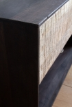 Close-up image of the corner of the Industrial Style Mango Wood TV Cabinet