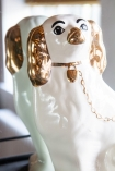 Close-up image of the Hand Painted UK Made Cavalier King Charles Spaniel Dog Coin Bank