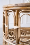 Close-up image of the bamboo detailing on the Round Bamboo Coffee Table