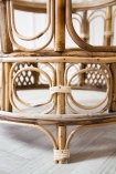 Close-up image of the legs & feet on the Round Bamboo Coffee Table