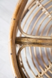 Image from above of the Round Bamboo Coffee Table