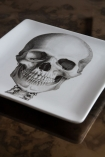 Close-up image of the skull from the Set Of 3 Skeleton Trinket Trays