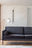 Image of the left-hand side of the Slate Grey Danish Design 3 Seater Sofa