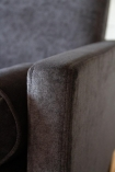 Close-up image of the arm on the Slate Grey Danish Design 3 Seater Sofa