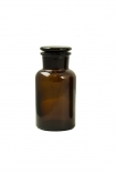Image of the small Apothecary Style Brown Glass Storage Bottle on a white background