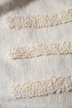 Close-up image of a stripes on the Ivory Cream Soft Cotton Tufted Stripes & Dot Throw