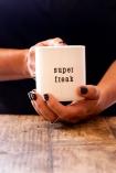 Close-up image of the Super Freak Mug