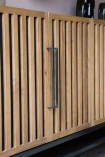 Close-up image of the front of the Timber Strips Sideboard