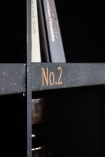 Close-up image showing the number detail on the Traditional Numbered Pigeon-Hole Shelf Unit