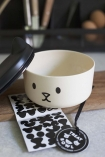 Image of the Customisable Pussy Cat Pet Treat Container with lid off