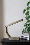 Lifestyle image of the Unique Design Wooden LED Table Task Lamp off