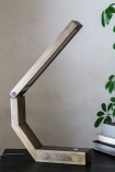 Image of the Unique Design Wooden LED Table Task Lamp open