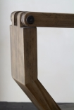 Close-up image of the hinge on the Unique Design Wooden LED Table Task Lamp