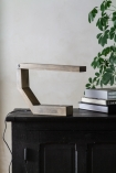 Lifestyle image of the Unique Design Wooden LED Table Task Lamp closed