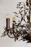 Close-up of the Vintage Candle-Style Floral Droplet Chandelier