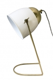 cutout image of White & Brass Lola Desk Lamp on white background
