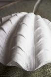 Close-up image of the Porcelain Clam Shell Table Lamp
