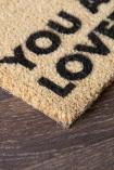 Close-up image of the cork doormat