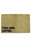 You Are Loved Doormat on white background