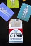 lifestyle image of 50 Things That Might Kill You The Self-Diagnosis Card Deck For Hypochondriacs on black table