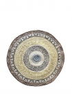 cutout image of Colourful Mandala Pattern Natural Jute Circular Rug on white background
