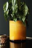 Glowing Amber Plant Pot