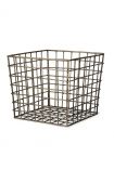 Image of the Antique Brass Coloured Wire Utility Basket on a white background cutout