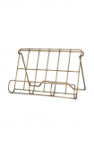 Image of the Antique Brass Finish Wire Cookbook Holder on a white background cutout