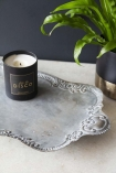 Antique Grey Victorian-Style Tray