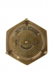 cutout image of Antique Style Desk Calendar & Compass on white background