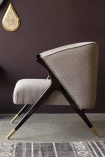 Zoomed in side-view image of the Art Deco Style Armchair