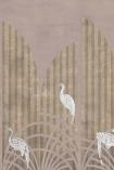 Close-up image of the Art Deco Wallpaper Mural - Tassel Rose Pink
