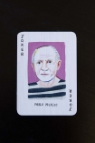 detail image of Pablo Picasso Art Genius Playing Cards on black background