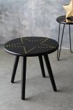 Black & Gold Star Studded Side Table